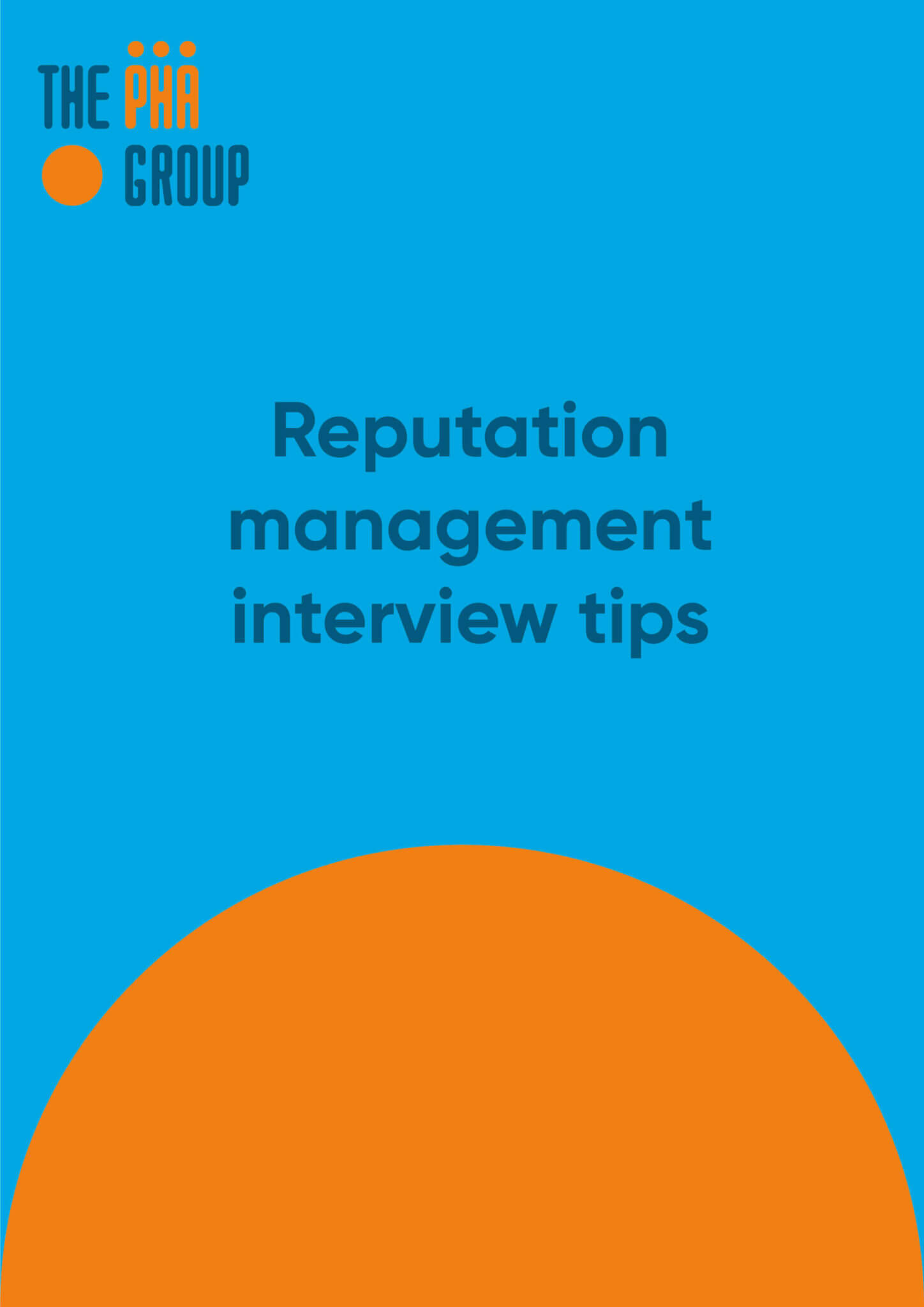 Reputation management interview tips