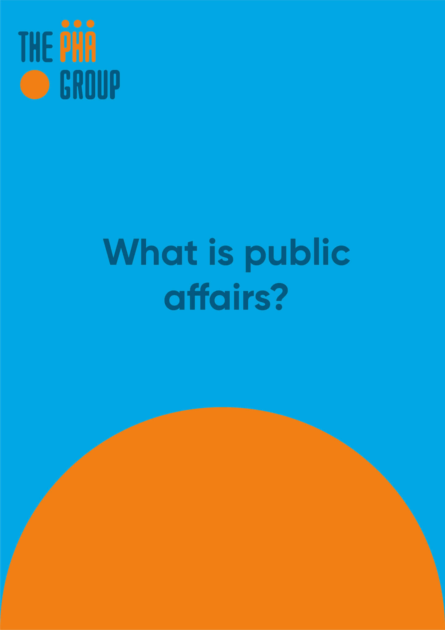 What is public affairs?