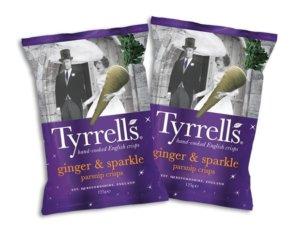 Tyrrells wedding themed limited edition crisps