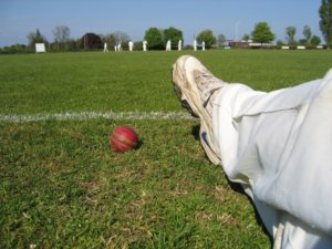 cricket boots and ball