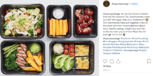 Pure package social post on Instagram - The PHA Group