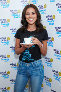 Jeans for Genes Ambassador Montana modelling this year's design.
