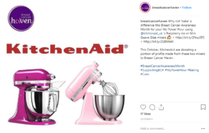 Kitchenaid pink october