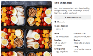 Deli snack box