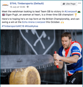 Timbersports results