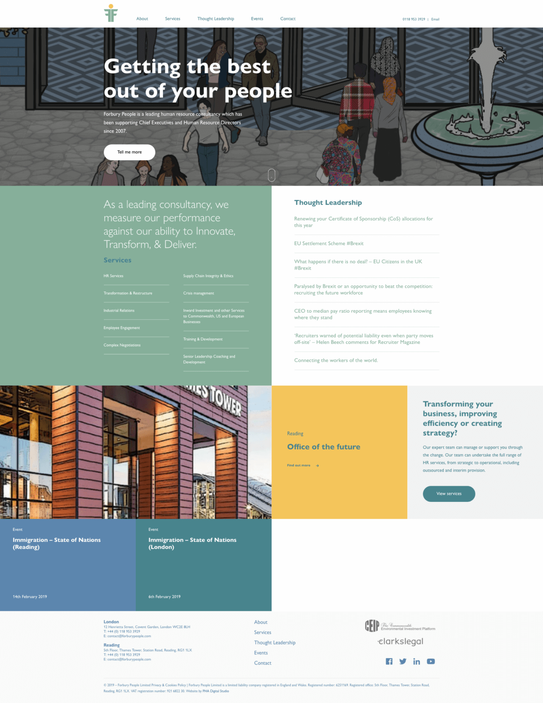 Website Design for a HR company London