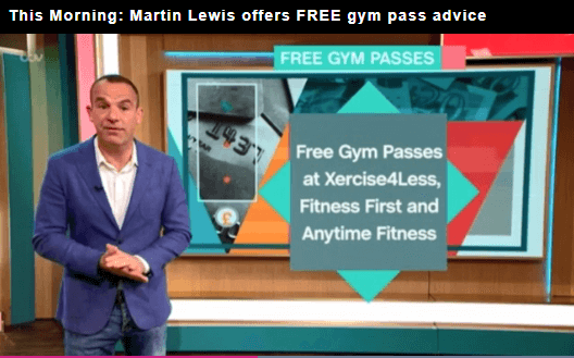 This Morning: Martin Lewis offering free gym pass advice