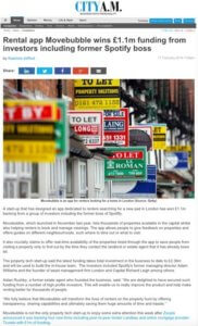 City AM coverage for Movebubble