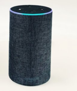 A picture of an Amazon Alexa in a house