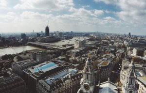 a skyview of London