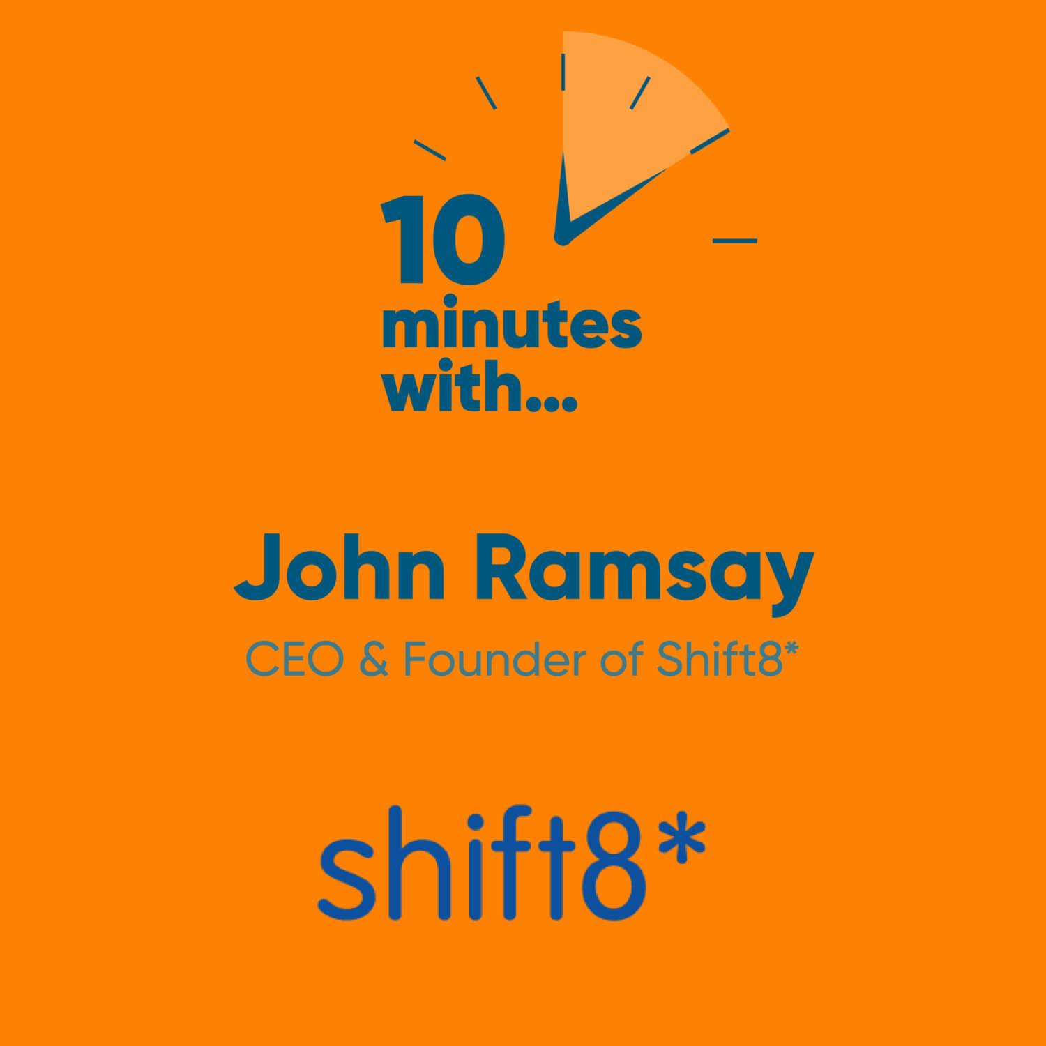 10 minutes with...John Ramsay CEO & Founder of Shift8*