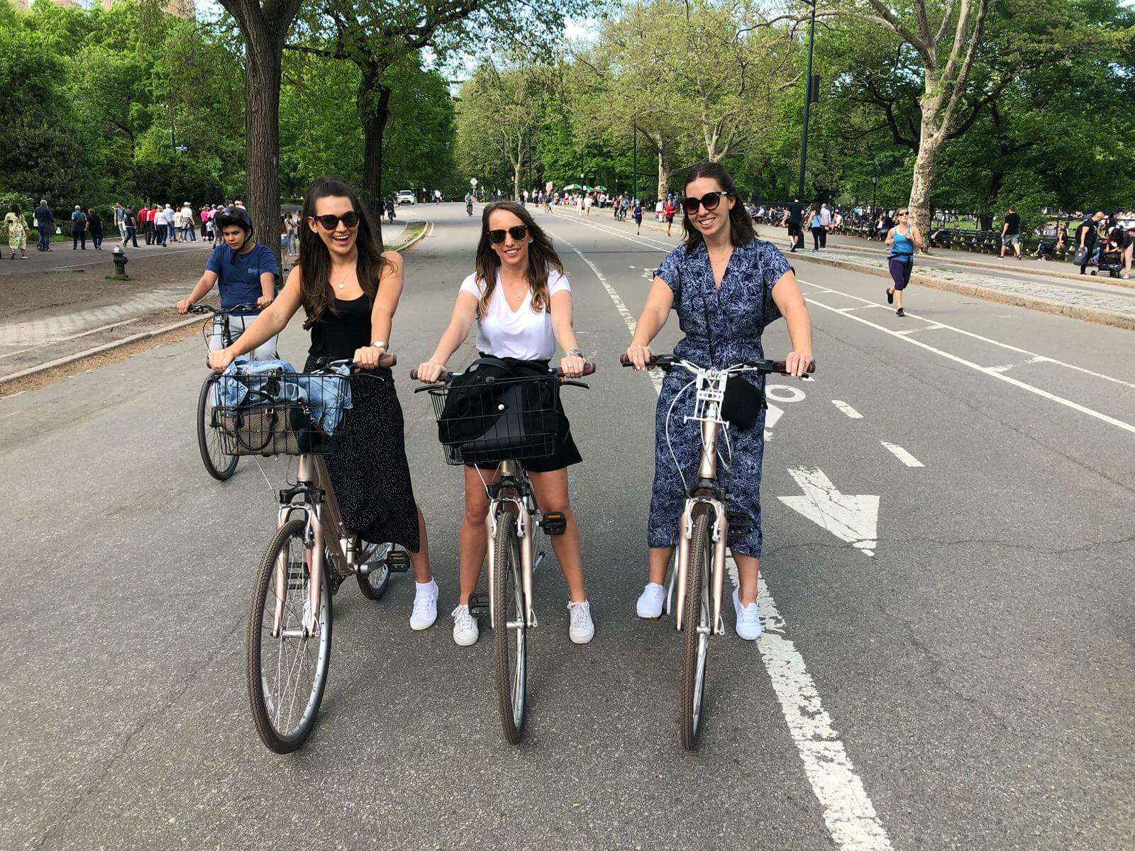 New Yorkriding bikes in central park