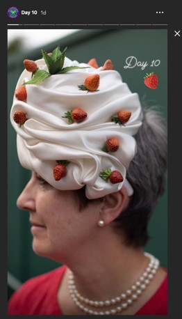 Wimbledon hat on Wimbledon instagram account