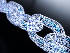Big data blockchain concept
