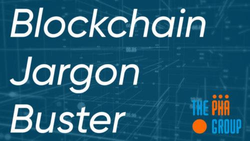 Blockchain jargon buster social post