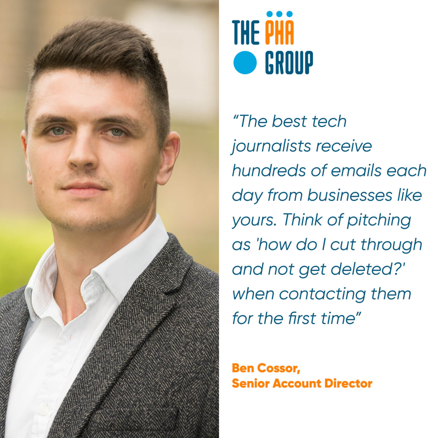 Ben Cossor, Senior Account Director - The PHA Group