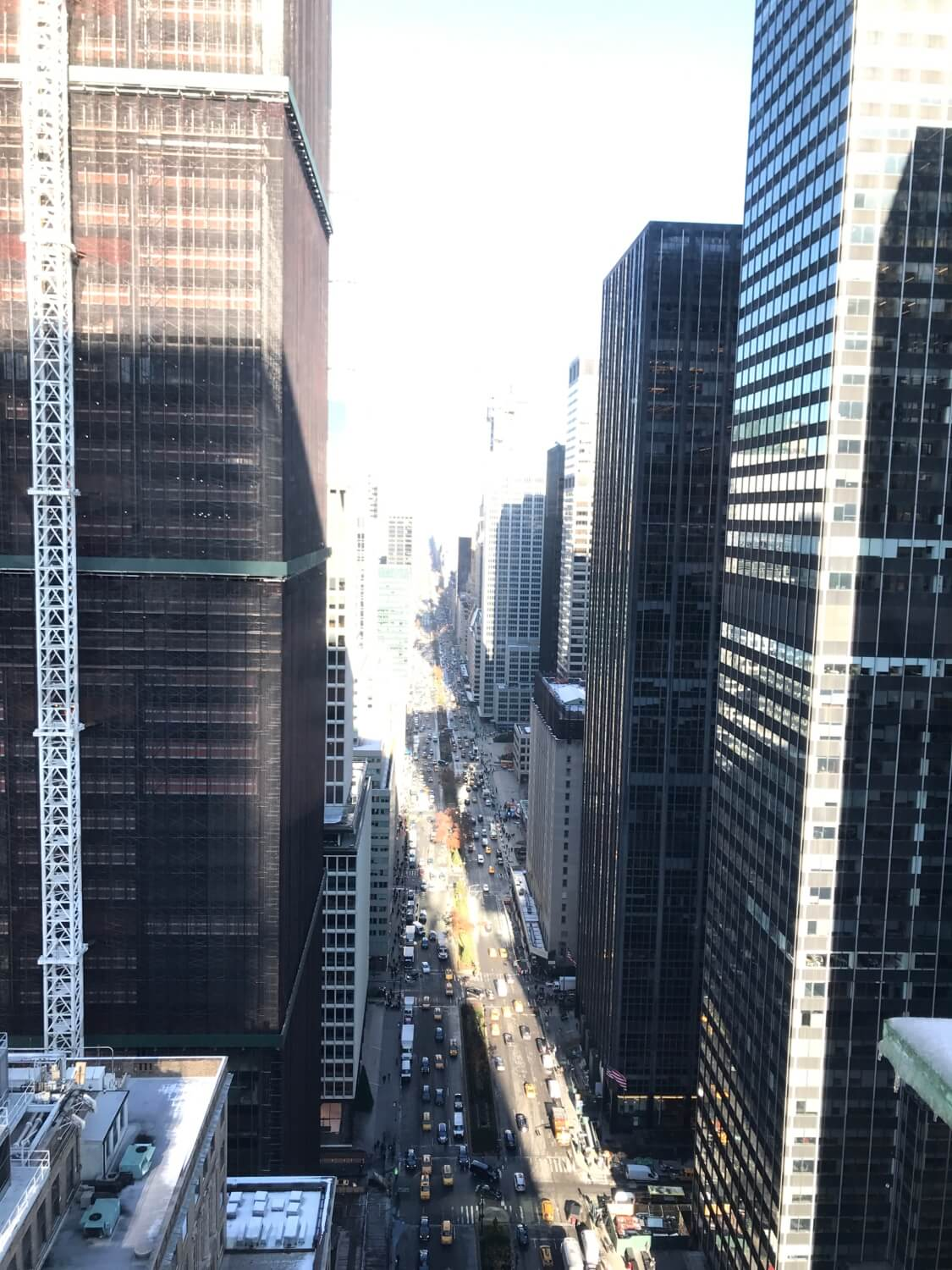 The view from New York office