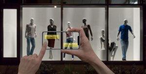 A camera over fashion clothing
