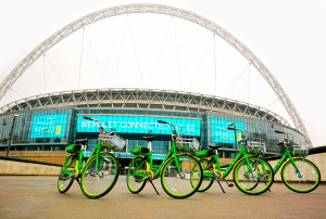 Lime bikes outside Wembley